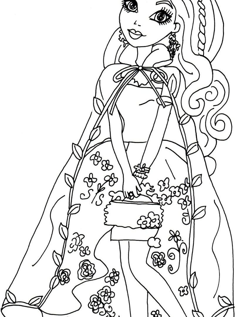 828x1080 Breathtaking Ever After High Coloring Pages For Kids Raven Queen