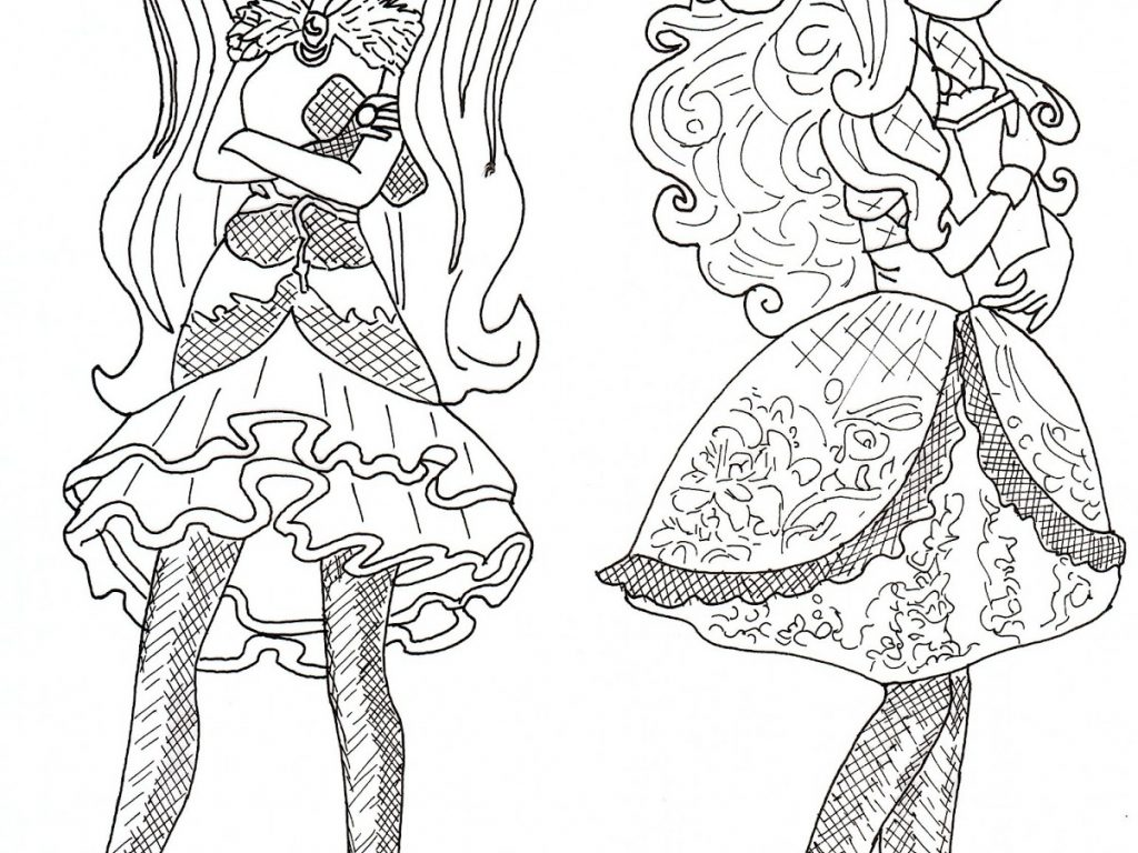 1024x768 Delightful Ideas Ever After High Coloring Pages Ever After High