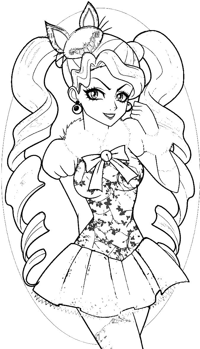 Ever After High Kitty Cheshire Coloring Pages At Getdrawings