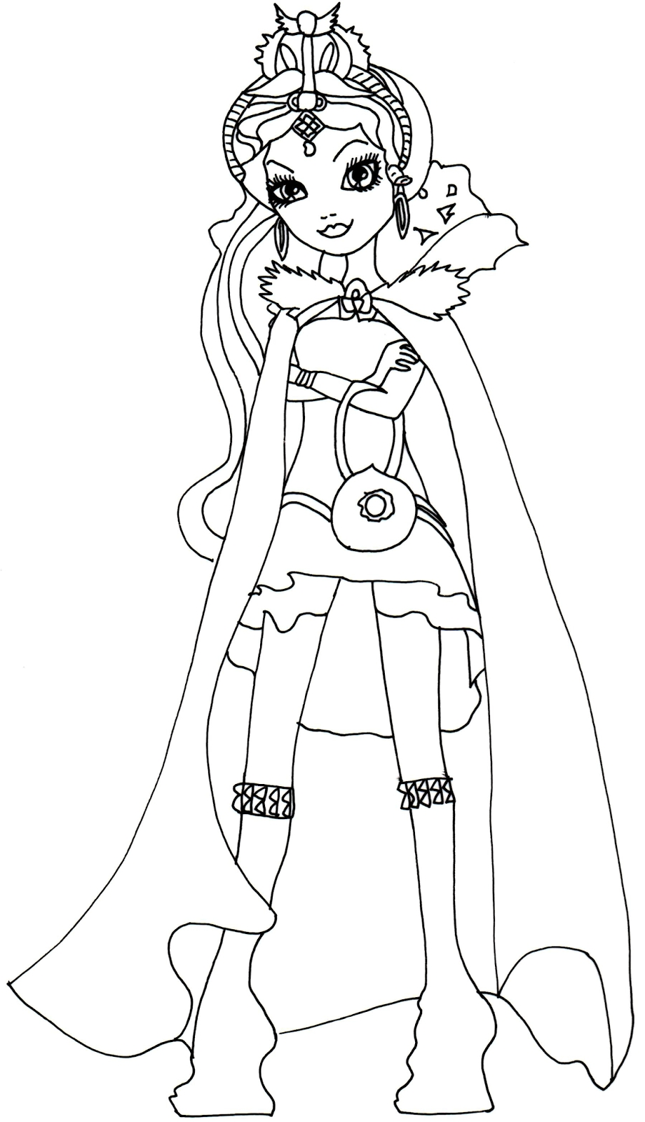 920x1600 Cool Raven Queen Legacy Day Coloring Page Free Coloring
