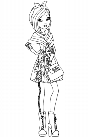308x480 Ever After High Apple Coloring Page