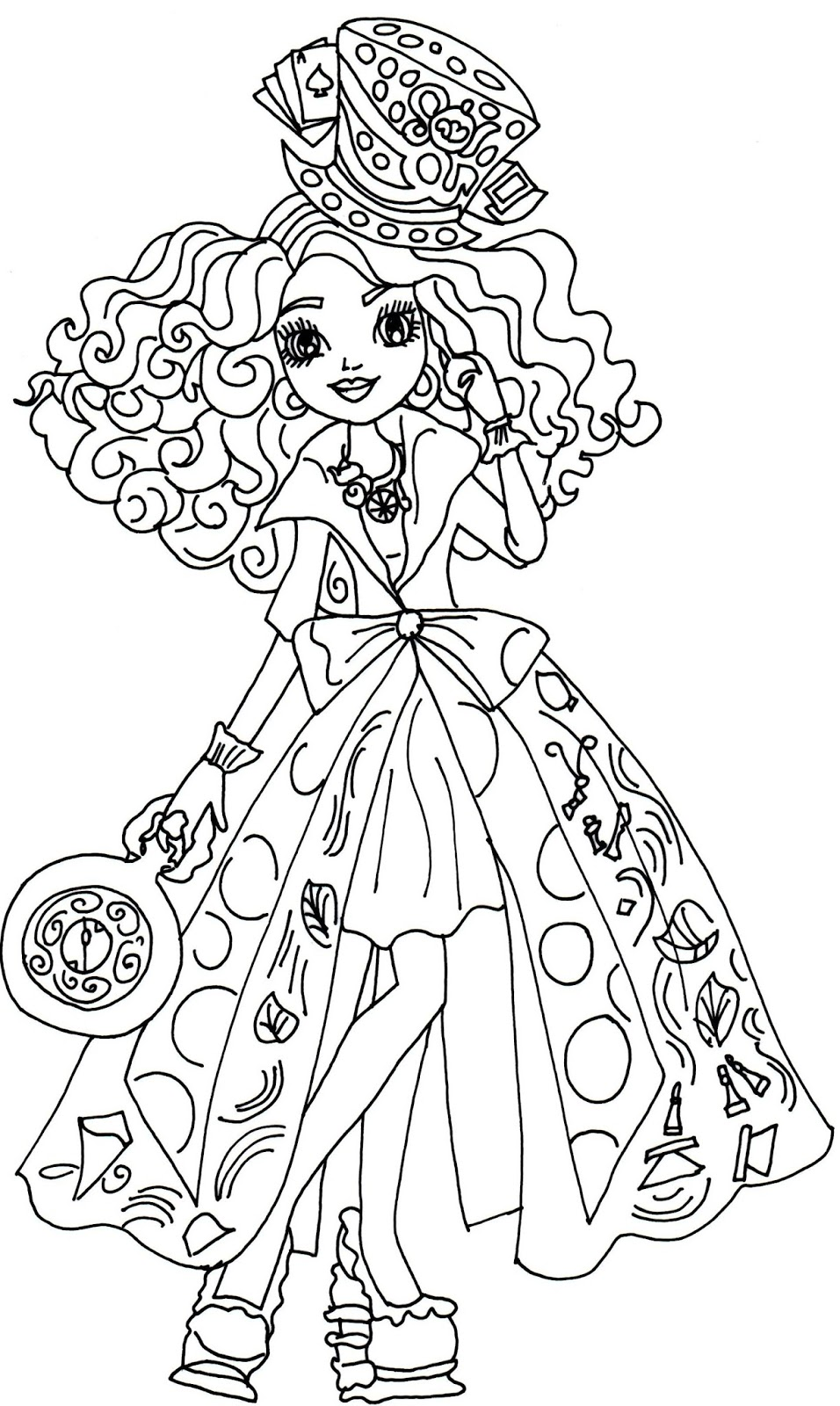 956x1600 Free Printable Ever After High Coloring Pages Madeline Hatter Way