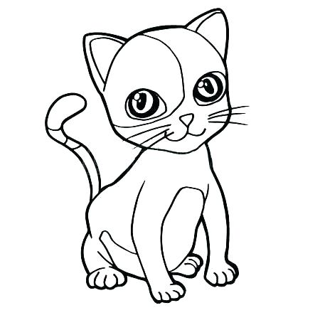 450x450 Kitty Coloring Pages Cartoon Kitty Coloring Pages Cute Cat