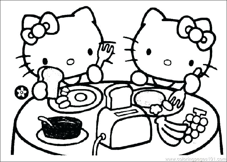 794x567 Kitty Coloring Pages Outstanding Cute Cat Coloring Pages To Print