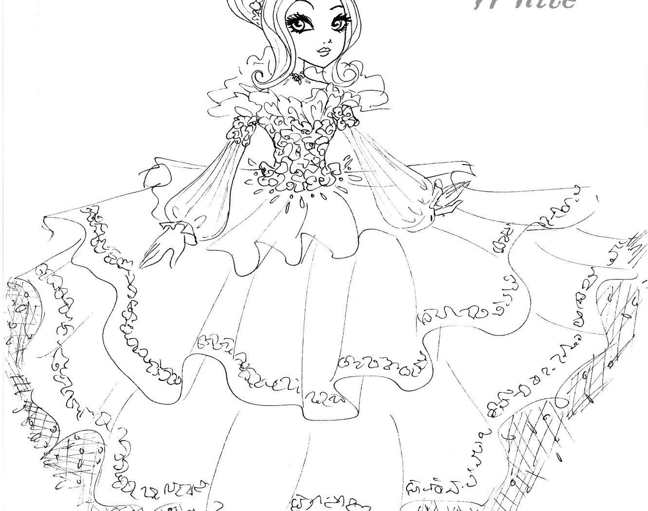 1331x1050 Amazing Ever After High Lizzie Hearts Coloring Pages Adornment