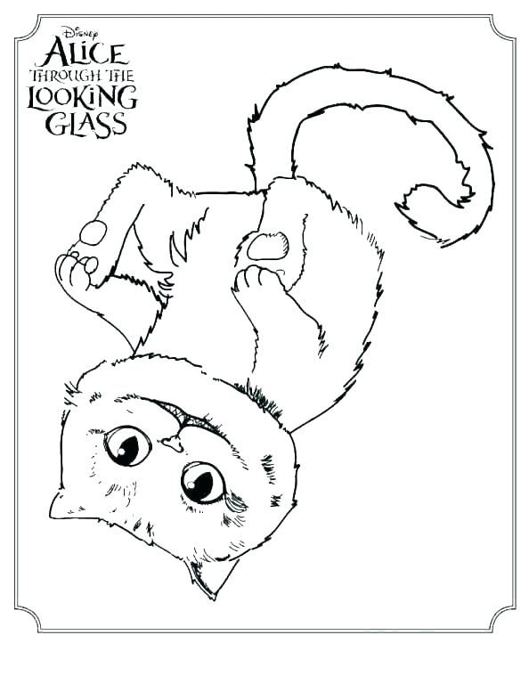 594x768 Cheshire Cat Coloring Pages Cat Coloring Pages Kitty Cheshire