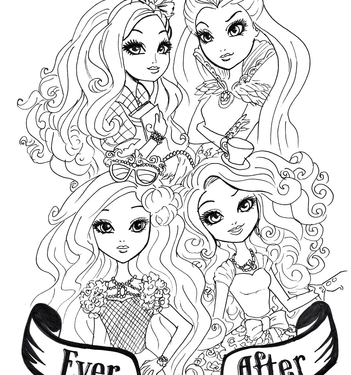 Ever After High Raven Queen Coloring Pages At Getdrawings Free