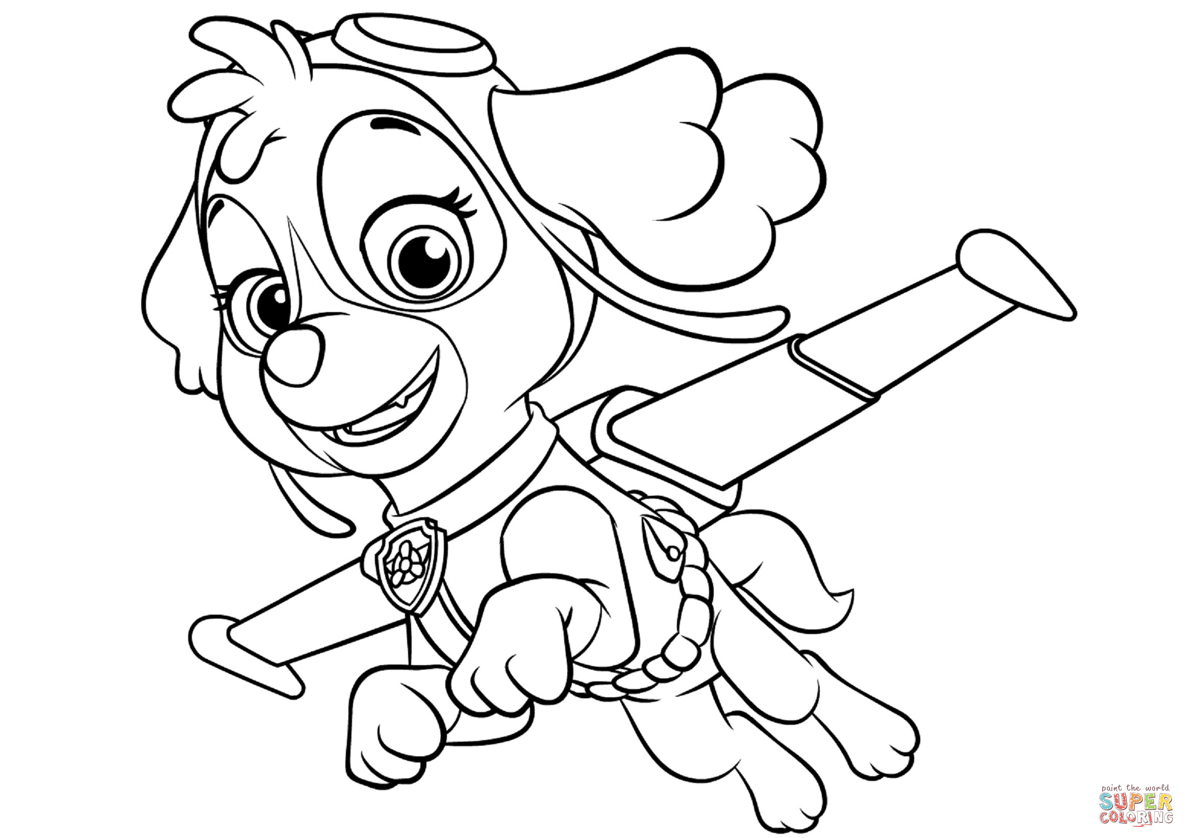 Everest Paw Patrol Coloring Pages at GetDrawings