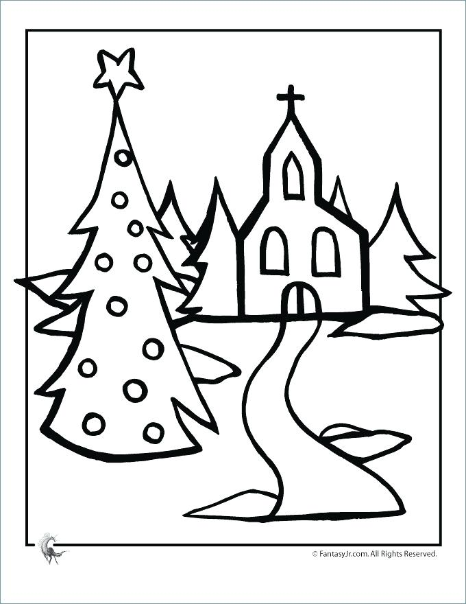 680x880 Christian Tree Coloring Pages Fir Tree Coloring Page Church