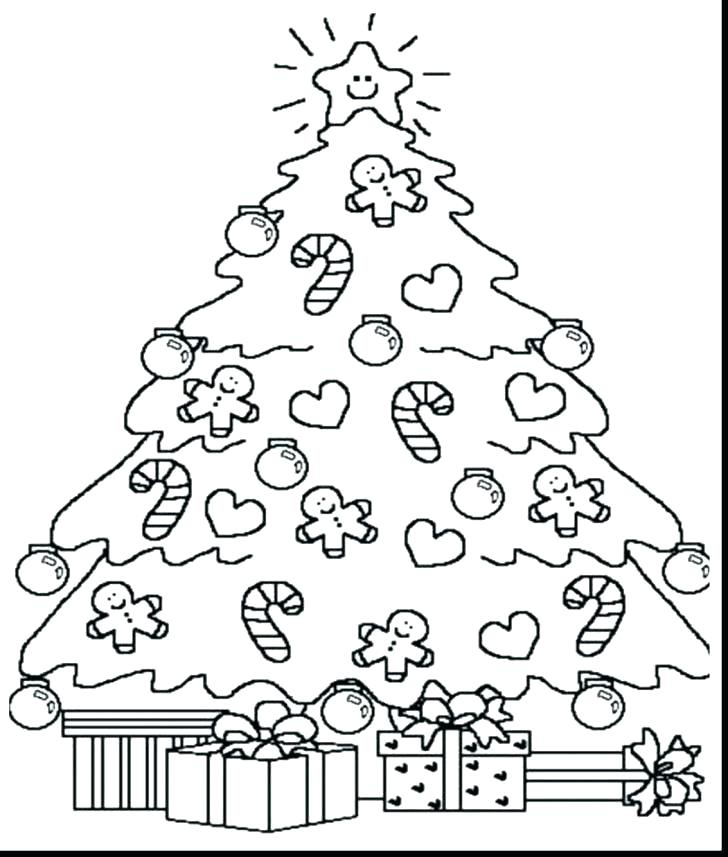 728x857 Christmas Tree Coloring Page