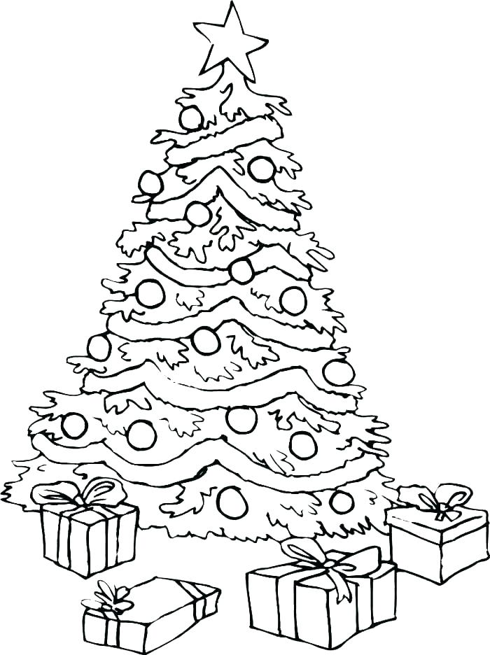 700x936 Christmas Tree Printable Coloring Page Plain Tree Coloring Page