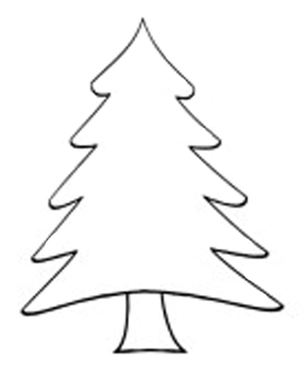 620x755 Clip Art Christmas Tree Outline Clever Design