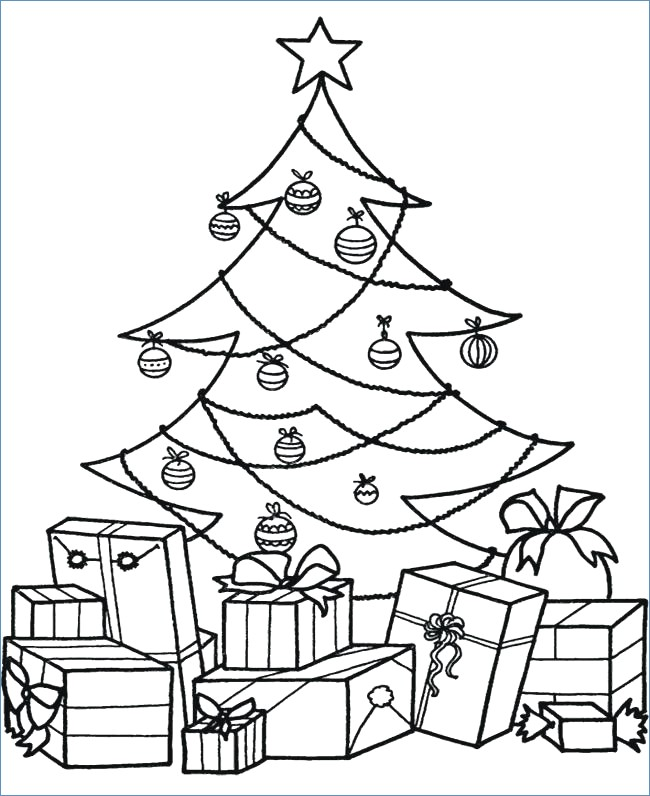 650x796 Detailed Christmas Tree Coloring Pages
