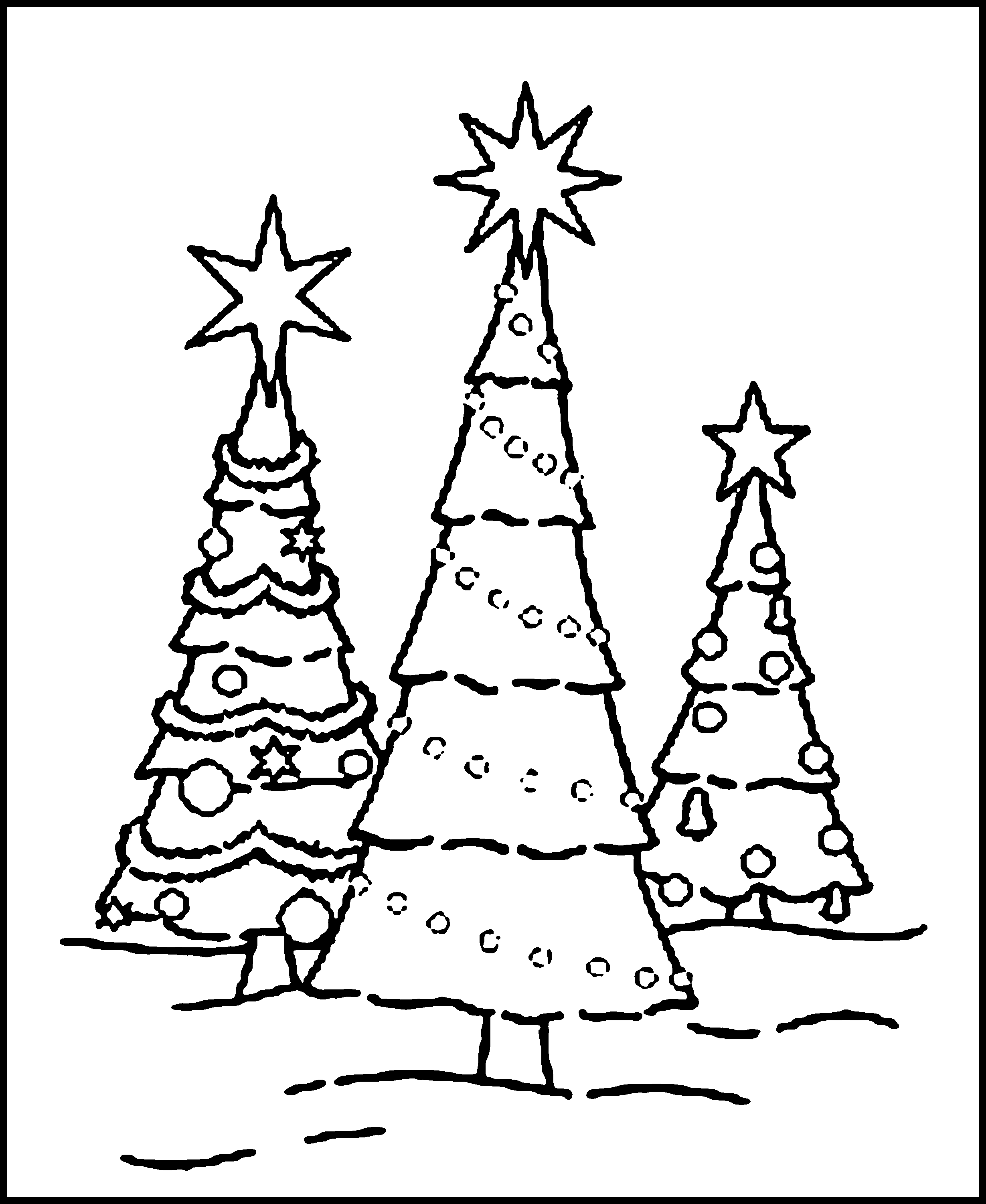 2459x3002 Free Printable Christmas Tree Coloring Pages For Kids