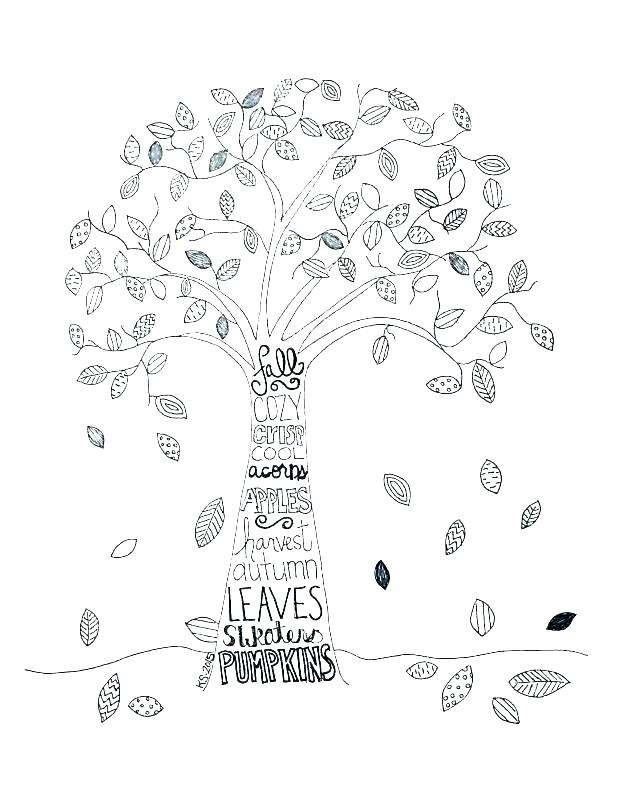 618x799 Free Tree Coloring Pages For Adults Printable Coloring Easy Tree
