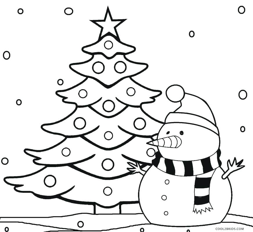 871x800 Christmas Tree To Color