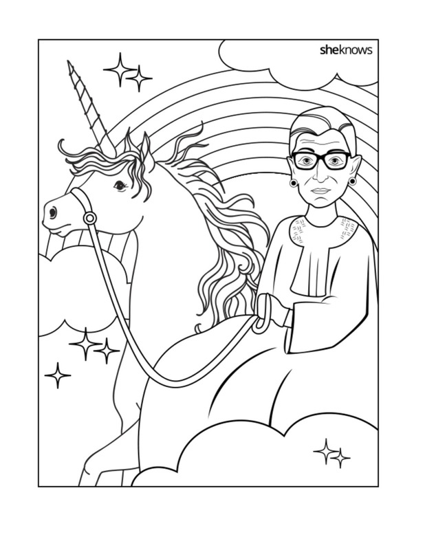 618x800 Free Ruth Bader Ginsburg Coloring Pages Cool Mom Picks