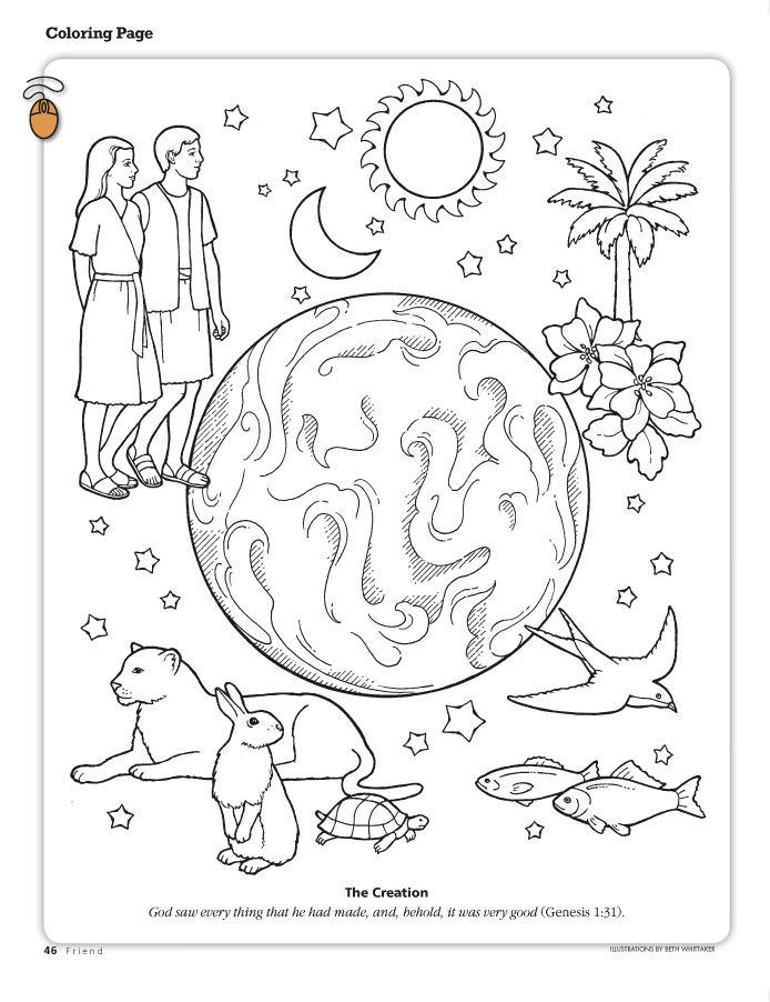 694x902 God Created Everything Coloring Pages