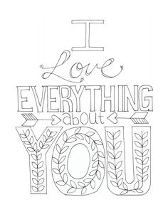 236x305 I Love Everything Coloring Print Revisited Free Printables, Free