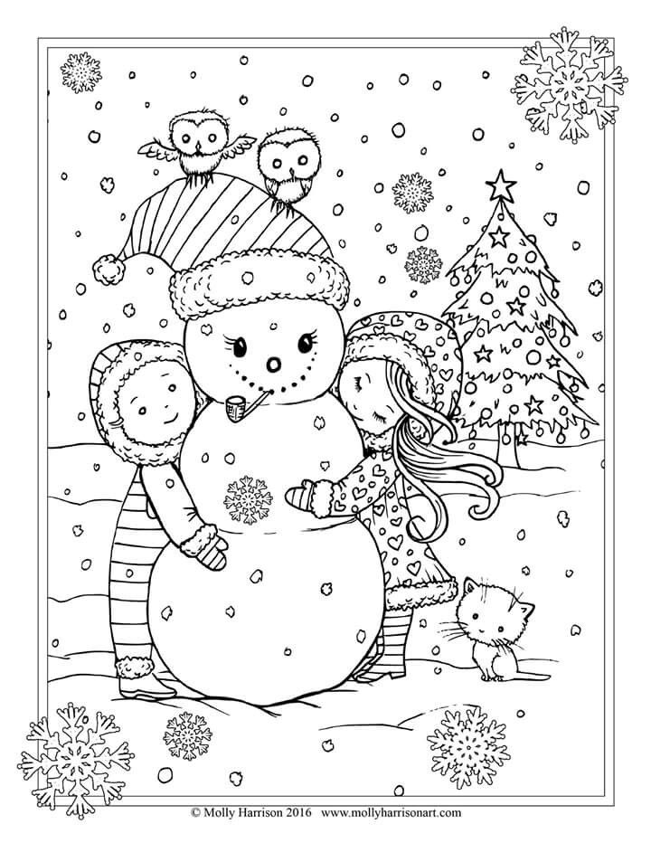 720x932 Owl Coloring Pages For Adults Everything Christmas