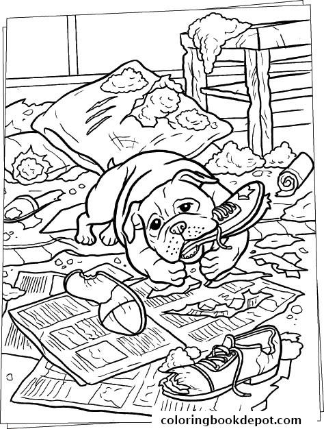 474x626 Dog Bites Everything Coloring Pages