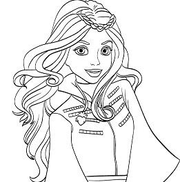 261x264 Evie From Descendants Coloring Page