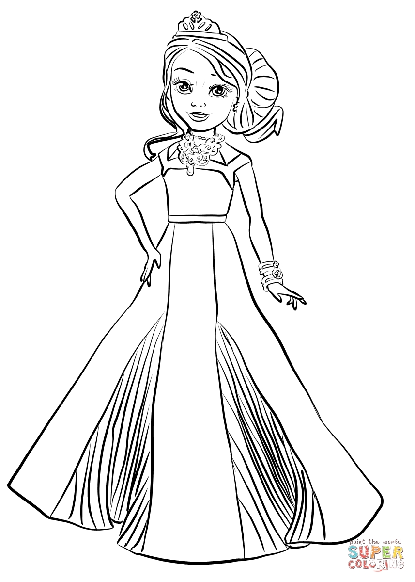 857x1200 Wanted Disney Descendants Coloring Pages Luxury Evie