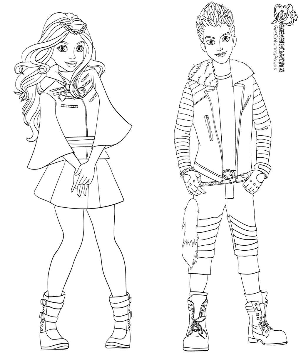 1024x1200 Carlos And Evie Coloring Page From Descendants Characters