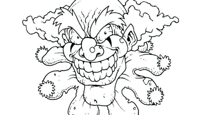728x393 Clowns Coloring Pages Scary Clown Coloring Pages Scary Clown
