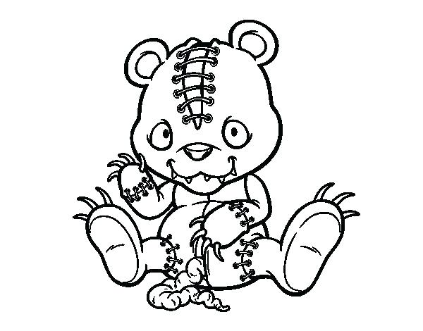600x470 Coloring Pages Online For Adults Evil Clown Coloring Pages Creepy