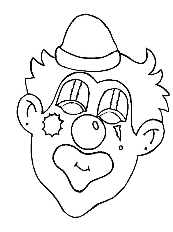 600x807 Creepy Halloween Coloring Pages Evil Clown Coloring Pages Creepy
