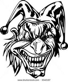 236x284 Scary Clown Coloring Page Colowing Scary Clowns