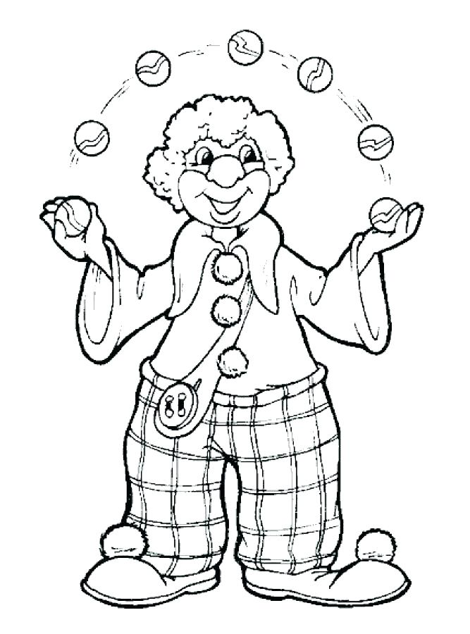 667x900 Scary Clown Coloring Pages Clown Coloring Pages Clown Coloring