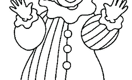545x329 Scary Clown Coloring Pages Clowns Coloring Pages Scary Clown
