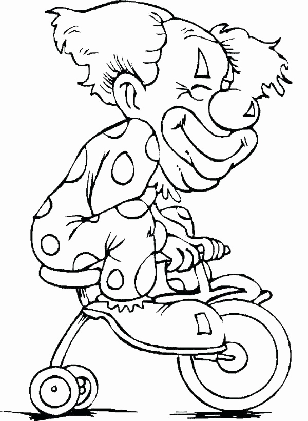 600x820 Scary Clown Coloring Pages Collection Clowns Coloring Pages Scary