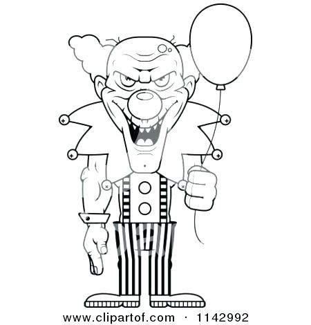 450x470 Scary Clown Coloring Pages Scary Clown Coloring Pages Evil Clown