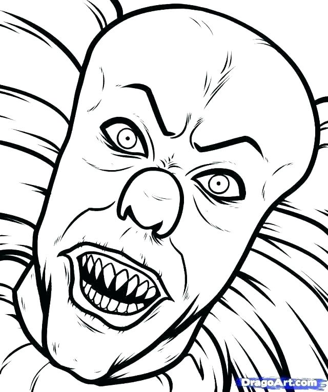 640x765 Scary Coloring Pages Scary Clown Coloring Pages Coloring Pages