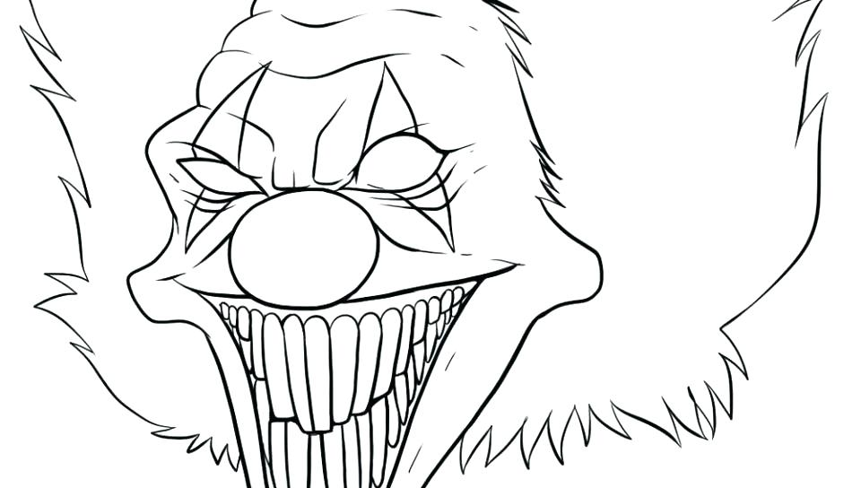 960x544 Scary Coloring Pages Scary Colouring Pages Evil Clown Coloring