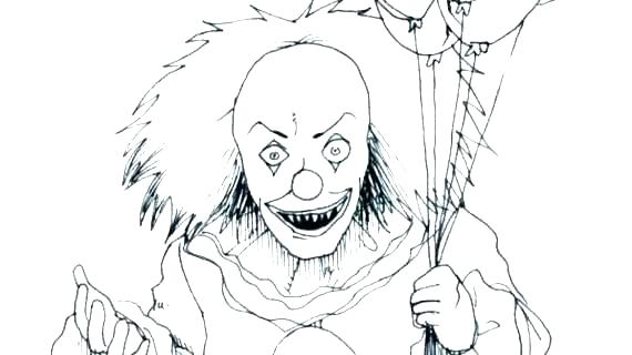 570x320 Clowns Coloring Pages