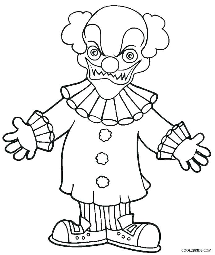 694x822 Coloring Pages Of Scary Clowns