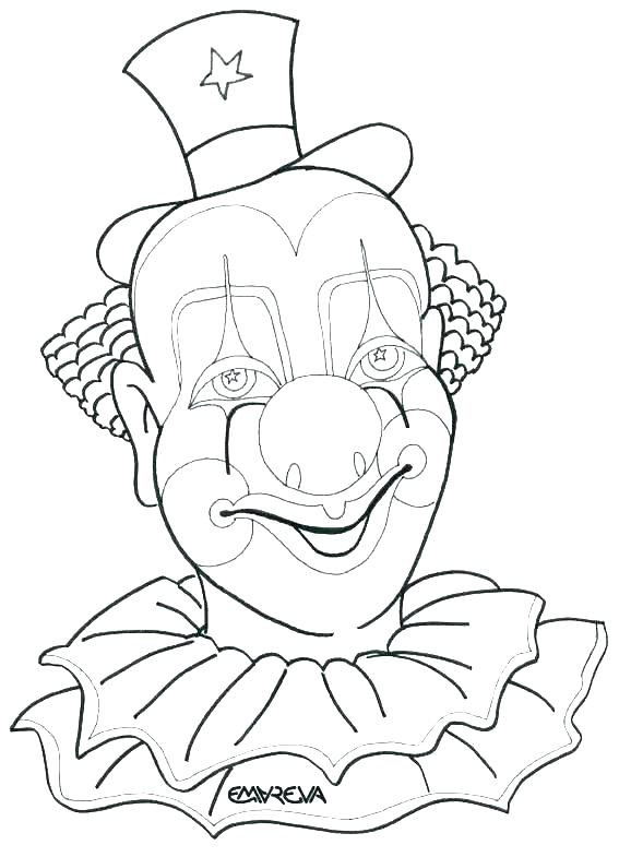 567x785 Free Clown Coloring Pages