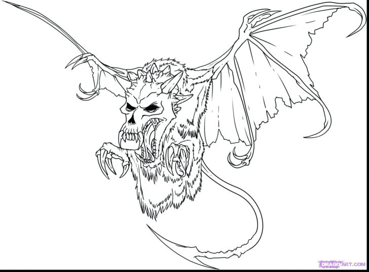 728x537 Halloween Ghost Coloring Pages Printable Superb Evil Skull