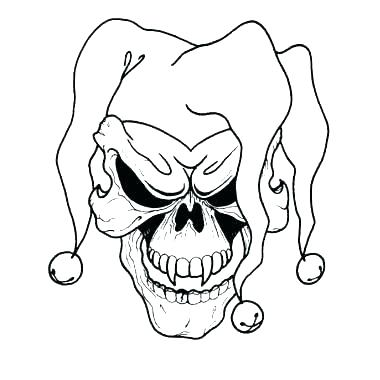 380x380 Joker Coloring Pages Clown Coloring Page Joker Coloring Pages