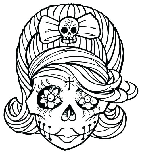 500x547 Skull Coloring Page Evil Skull Coloring Pages Anatomy Skull