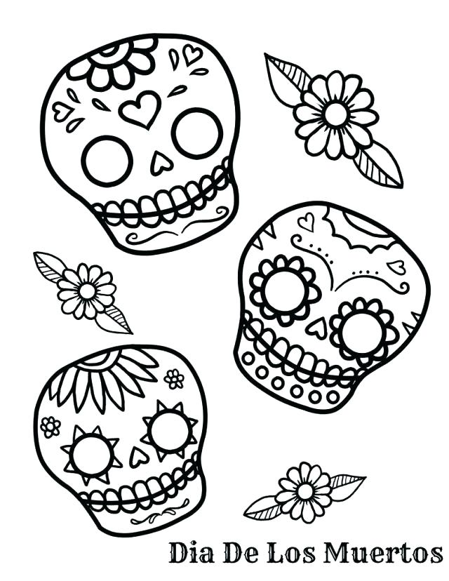 640x828 Skull Pictures To Color Skull Coloring Sheets Day Of The Dead
