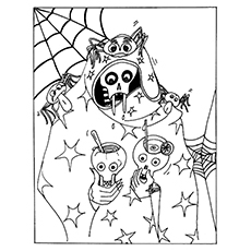 230x230 Top Skull Coloring Pages For Your Little One