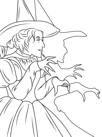 Evil Witch Coloring Pages
