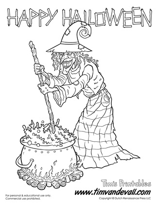 325x421 Printable Wicked Witch Coloring Page