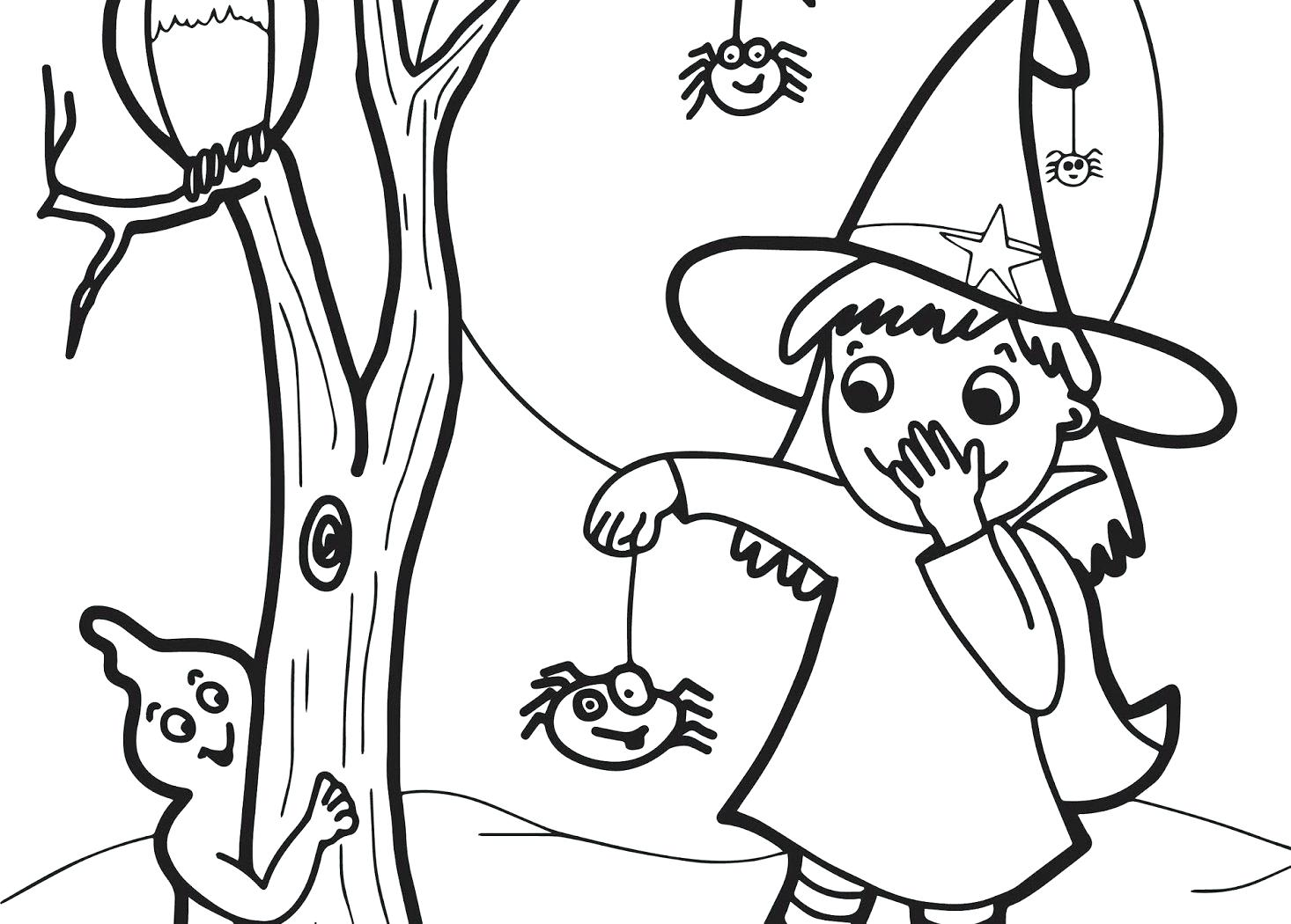 1466x1050 Scary Cat Halloween Coloring Pages Face Pictures Free Download