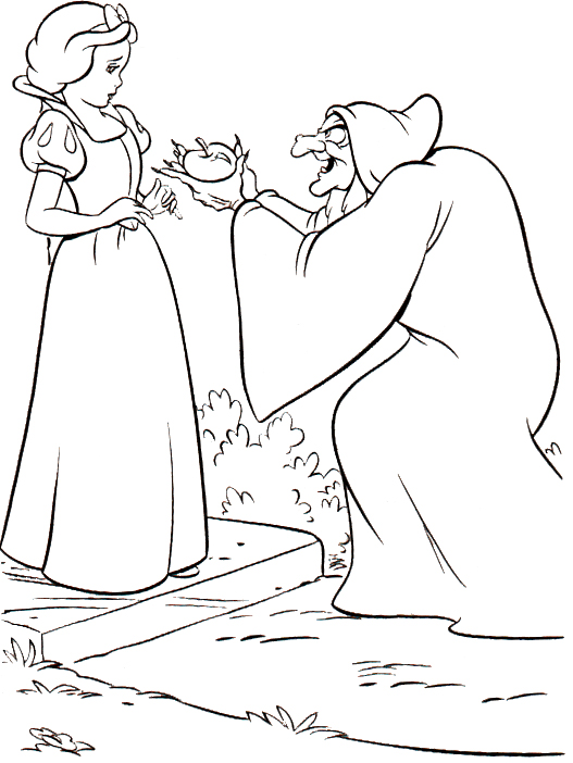 527x702 Snow White Evil Queen Coloring Pages